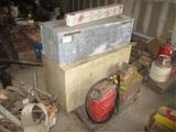 Lot Of Shop Metal Cabinet, Metal Tool Box,