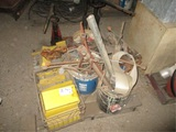 Lot Of Tire Irons, Grease Pumps, Bolts & Misc