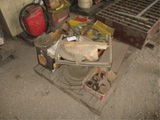 Lot Of Hydraulic Hose, Misc Bolts, Shelving & Misc
