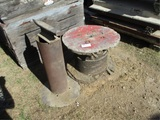 Spool Of Steel Cable & Anvil On Stand