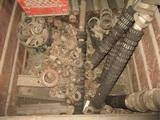 Metal Bin W/Wheel Bearings & Misc