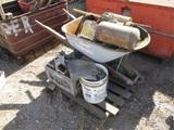 (4) Pallets Of Wheel Barrel, Screws,