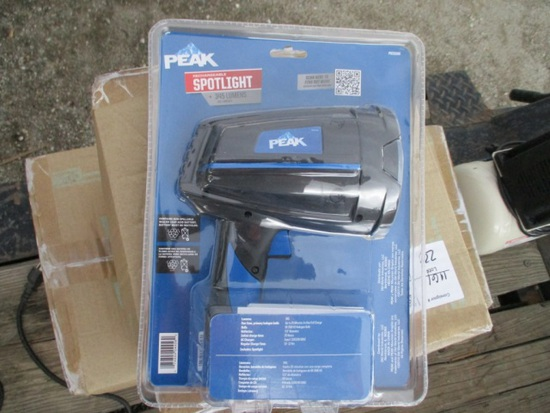 (3) Boxes Of Peak Rechargeable Spot Lights,
