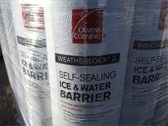 (25) Rolls Of  Weather Lock Ice & Water Barrier