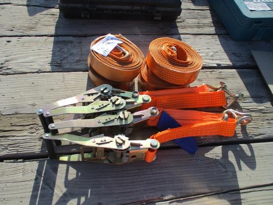 Lot Of (4) Ratchet Cargo Straps