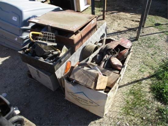 Lot Of Trailer Lights, Misc Oil Filters,