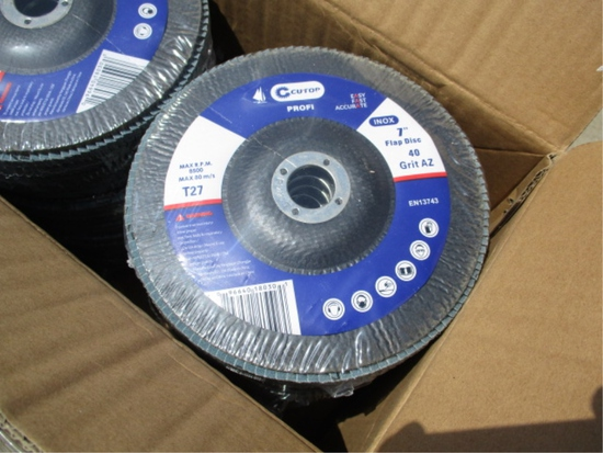 """Lot Of Cutop 7"""" Flap Discs,"""