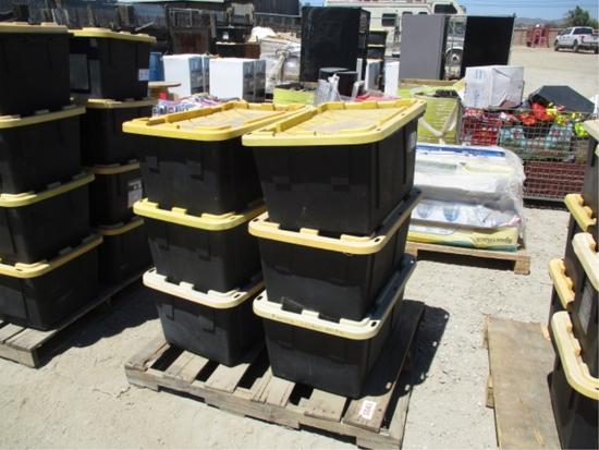 (6) Plastic Storage Bins W/Misc Items,