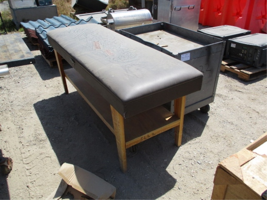 Lot Of Massage Table & Rolling Metal Cart