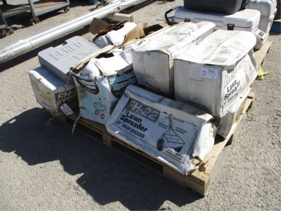 Lot Of (9) FH-22 Lawn Spreader
