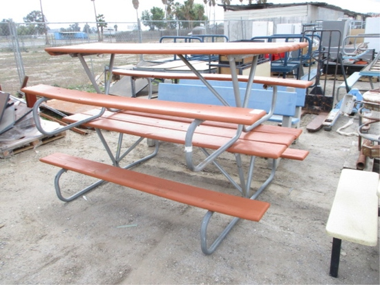 Lot Of (2) Picnic Benches