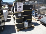 (7) Plastic Storage Bins W/Misc Items,
