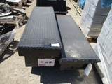Lot Of (2) Diamond Plate Tool Boxes,