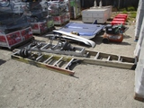 Lot Of (3) Ladders & (2) Parking Lamps