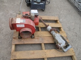 Lot Of Gas Blower & Electric Jack Hammer