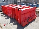 Lot Of (7) Armorcast Construction Poly Barricades