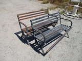 Lot Of (2) Metal Benches