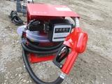 Unused 12V Diesel Fuel Pump W/Flow Meter