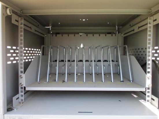 (2) Black Box Charging Port W/Storage Cabinet