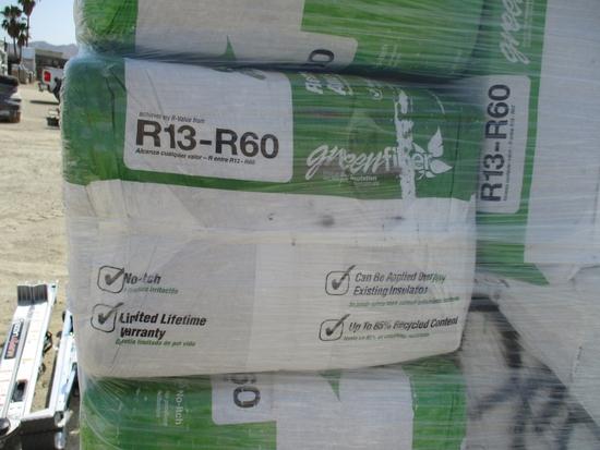 Lot Of Green Fiber R13-R60 Insulation,