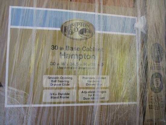 "Lot Of Hampton Bay 30"" Base Cabinets,"