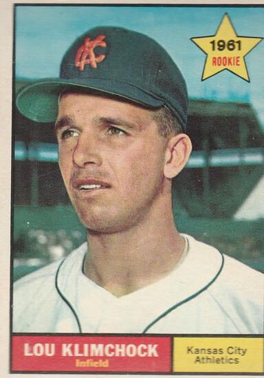 LOU KLIMCHOCK 1961 TOPPS ROOKIE CARD #462