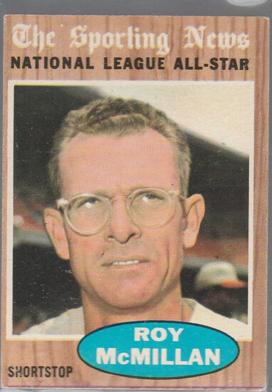 ROY MCMILLAN 1962 TOPPS CARD #393
