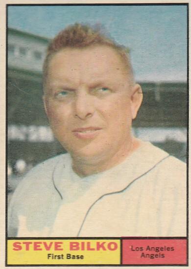 STEVE BILKO 1961 TOPPS CARD #184