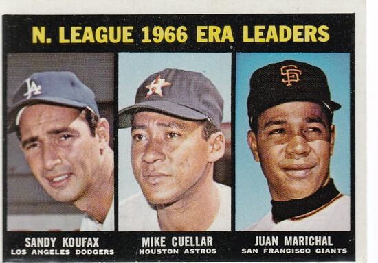 1967 TOPPS CARD #234 NL ERA LEADERS / KOUFAX