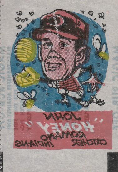 "JOHN ""HONEY"" ROMANO 1961 TOPPS MAGIC RUB OFFS"