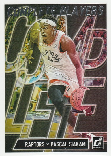 PASCAL SIAKAM 2019/20 DONRUSS COMPLETE PLAYER CARD #5