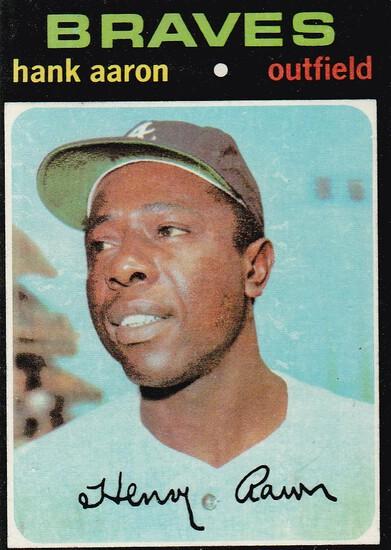 HANK AARON 1971 TOPPS CARD #400