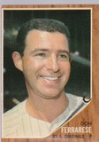 DON FERRARESE 1962 TOPPS CARD #547 / HIGH NUMBER