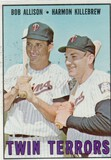 1967 TOPPS CARD #334 TWIN TERRORS / KILLEBREW