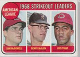 1969 TOPPS CARD #11 STRIKEOUT LEADERS