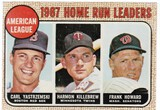 1968 TOPPS CARD #6 HOME RUN LEADERS / YASTRZEMSKI