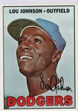 LOU JOHNSON 1967 TOPS CARD #410
