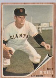 BILLY O'DELL 1962 TOPPS CARD #429