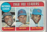 1969 TOPPS CARD #4 RBI LEADERS / MCCOVEY