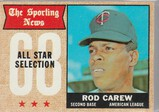ROD CAREW 1968 TOPPS CARD #363