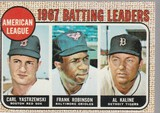 1968 TOPPS CARD #2 BATTING LEADERS / YASTRZEMSKI