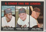 1967 TOPPS CARD #241 R.B.I. LEADERS / F ROBINSON