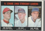 1967 TOPPS CARD #237 STRIKEOUT LEADERS