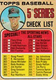 1968 TOPPS 5TH SERIES CHECKLIST CARD #356 / HOLTZMAN