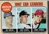 1968 TOPPS CARD #8 ERA LEADERS