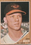 JERRY ADAIR 1962 TOPPS CARD #449