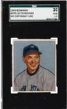 LEO DUROCHER 1950 BOWMAN CARD #220 / GRADED