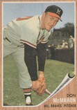 DON MCMAHON 1962 TOPPS CARD #483