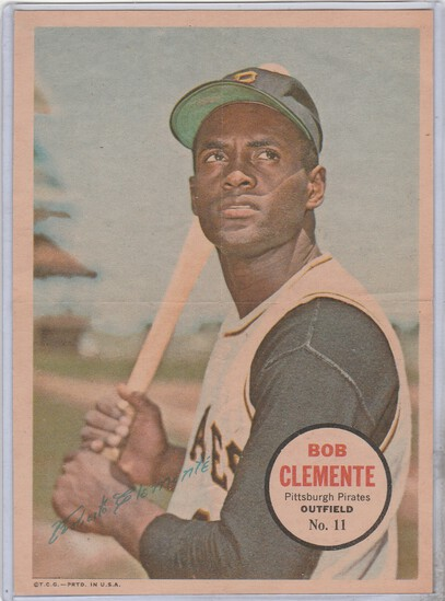 ROBERTO CLEMENTE 1967 TOPPS POSTER #11