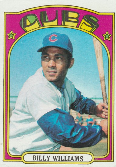 BILLY WILLIAMS 1972 TOPPS CARD #439